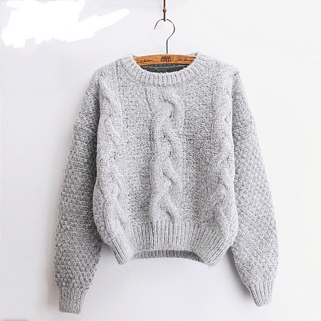 Women's  Pullover, Crew Neck, Mohair Pullover, Twist Pull, Knitted Sweater