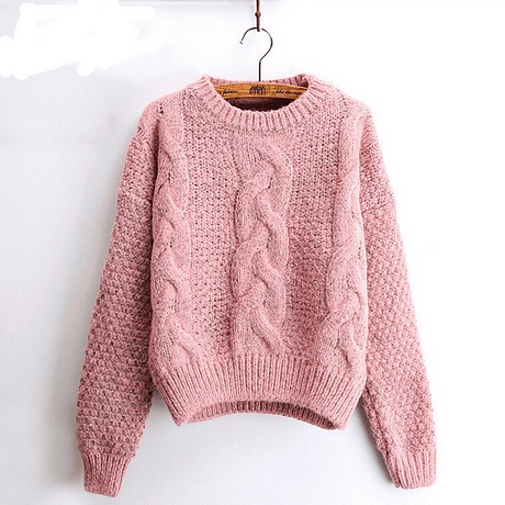 Women's  Pullover, Crew Neck, Mohair Pullover, Twist Pull, Knitted Sweater 4