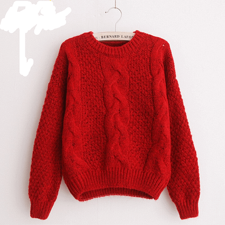 Women's  Pullover, Crew Neck, Mohair Pullover, Twist Pull, Knitted Sweater 3