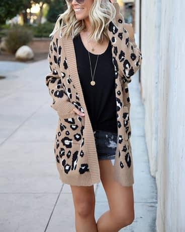 Forefair Oversize Casual Leopard Cardigan Women Kimono 2019 Autumn Plus Size Long Winter Knitted Sweater Female