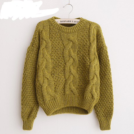 Women's  Pullover, Crew Neck, Mohair Pullover, Twist Pull, Knitted Sweater 2